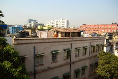 Kolkatacityscape van hotel op Parkstraat Stock Foto