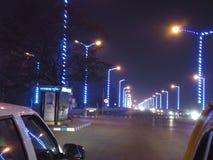 Kolkatawegen bij nacht stock afbeeldingen