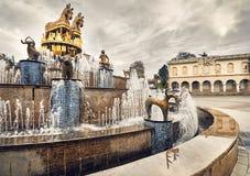 Kolkhida喷泉在库塔伊西 免版税图库摄影