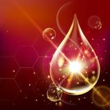 Kollagen-Serum-und Vitamin-Hintergrund-Konzept-Hautpflege-Kosmetik Stockfoto