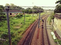 Kollam Railway Track stock photo