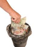 Kollaps av valutamarknaden, investeringriskerna Royaltyfria Bilder