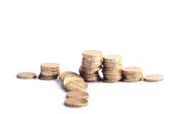 Kollapsad hög av pengar Arkivfoton