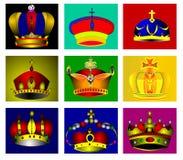 Kollazh nine coronas. Royalty Free Stock Photography