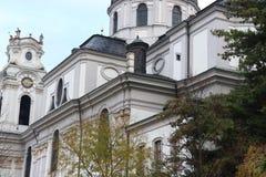Kollegien教会在萨尔茨堡在奥地利 免版税库存照片