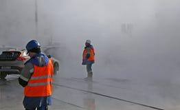 Kollektiv olycka i staden Fotografering för Bildbyråer
