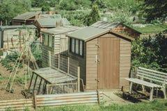 Kollektiva odlingslottar i suffolken, England Arkivfoto