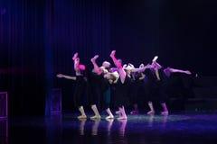 Kollektivismus 9--Tanzdramaesel Wasser erhalten stockbilder