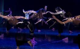 Kollektivismus 13--Tanzdramaesel Wasser erhalten stockfotografie