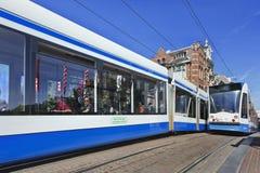 Kollektivtrafik i Amsterdam Royaltyfria Foton
