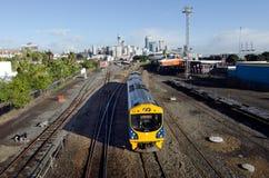 Kollektivtrafik i Auckland Arkivbild