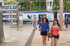 Kollektivtrafikjärnvägsstationen royaltyfria bilder