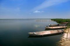 Kolleru λιμνών στοκ εικόνα