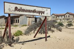Kolmannskuppe diamantspökstaden Fotografering för Bildbyråer