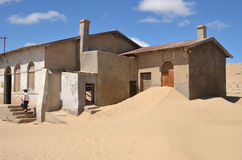 Kolmanskop在纳米比亚 免版税图库摄影