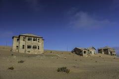 Kolmanskop废墟在纳米比亚沙漠 图库摄影