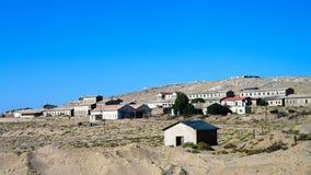 Kolmanskop沉没于沙子海,纳米比亚的鬼城 免版税库存图片