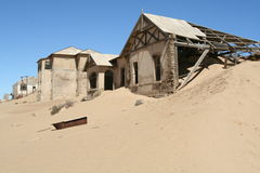 Kolmanskop (cidade fantasma) Fotos de Stock Royalty Free