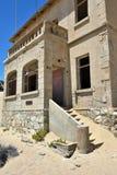 Kolmanskop i Namibia Royaltyfria Bilder