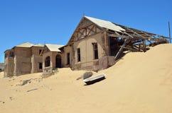 Kolmanskop i Namibia Royaltyfria Foton