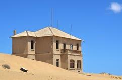 Kolmanskop i Namibia Fotografering för Bildbyråer