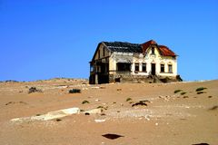 Kolmanskop Namibia. One of the houses in the ghost town of Kolmanskop Namibia Royalty Free Stock Photo