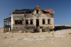 Kolmanskop, Namibia. Deserted house in the ghost town Kolmanskop, Namibia royalty free stock image