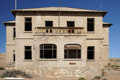 Kolmanskop, Namibia. Ruin in the abandoned diamond town Kolmanskop in Namibia stock photo