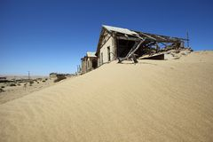 Kolmanskop spökstad Arkivfoto
