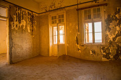 Kolmanskuppe spökstad Namibia Royaltyfria Foton