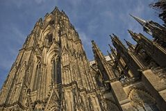Koln cathedral against the blue sky Royalty Free Stock Photo
