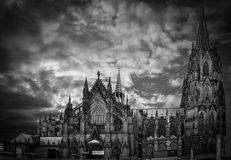 Koln Cathedral. It was a very nice day to do a panorama photography to this beautiful cathedral in Koln Stock Photo