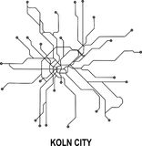 Koln City map. Koln subway map available in vector file format Stock Image