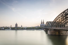 Koln cityscape with cathedral and steel bridge, Germany. Koln cityscape with cathedral and steel bridge, Germany, Europe Stock Photo