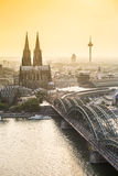 Koln cityscape with cathedral and steel bridge, Germany. Europe Stock Images