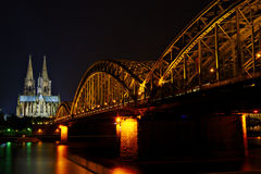 Koln (Cologne) view in the night Stock Photo