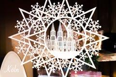 Koln Dom christmas decoration. Koln Dom represented in a christmas decoration Royalty Free Stock Photography
