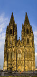 Koln dom front. Koln dom cathedral front view panorama tall towers ancient landmark Germany Royalty Free Stock Photography