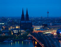 Koln Dome Night close Royalty Free Stock Image