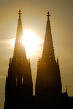 Kolner Dom in backlight Royalty Free Stock Images