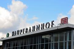 Kolońska centrali stacja Haupbahnhof Niemcy lub Koln Fotografia Royalty Free