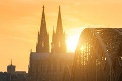 Kolońska linia horyzontu z katedr Dom obrazy royalty free