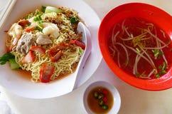 Kolo Mee - popular sarawak street food stock photos