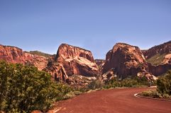Kolob Canyon Peaks Stock Photo