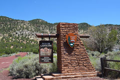 Kolob Canyons Entrance Sign Royalty Free Stock Photo