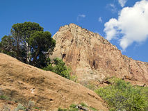 Kolob Canyons Mesa. A monolithic rock in the Kolob Canyons District of Zion National Park, Utah Stock Images