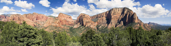 Kolob Canyons Panorama Royalty Free Stock Photography