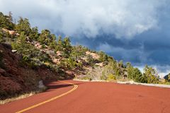 Kolob Canyons Road Stock Photography