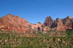 Kolob Canyons, Zion. Geologic features of the Kolob Canyons area of Zion National Park, Utah Stock Photos