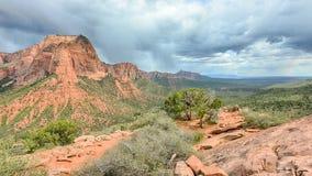 Kolobcanions, de Sleep van de Houtkreek, Zion National Park, UT stock afbeelding